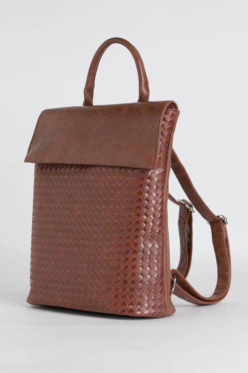Jolie Weave Embossed Backpack