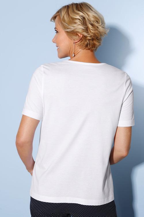 Euro Edit Cotton Modal Lace Detail Tee