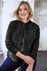 Plus Size - Sara Suede Stitch Panel Jacket