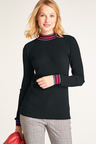 Heine Contrast Detail Light Knit Top