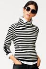 Heine Striped Turtle Neck Pullover
