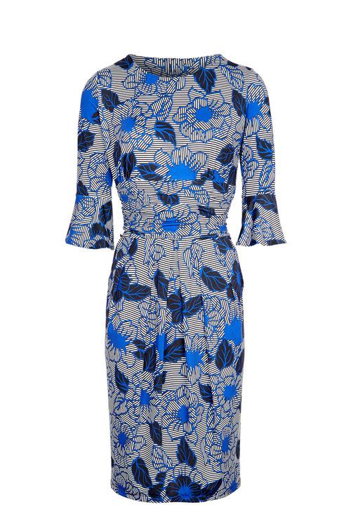 Kaleidoscope Floral Pleat Detail Dress