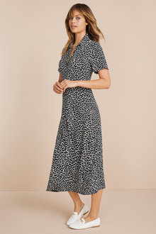 Emerge Knit Midi Shirt Dress