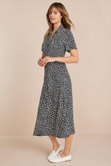 Emerge Knit Midi Shirt Dress - 247106