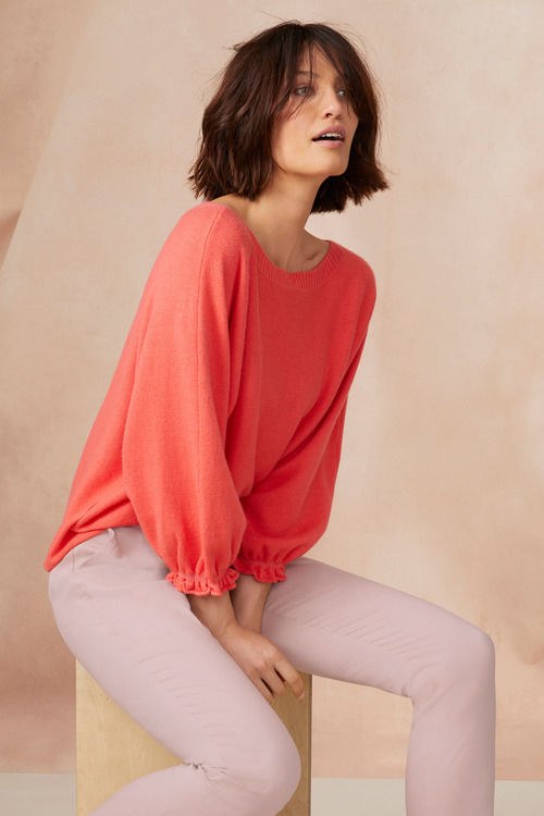 Emerge Balloon Sleeve Boatneck Sweater