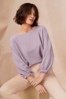 Emerge Baloon Sleeve Boatneck Sweater