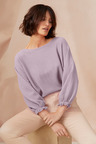 Emerge Baloon Sleeve Boatneck Sweater