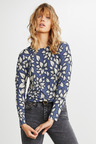 Emerge Knit Printed Long Sleeve Top