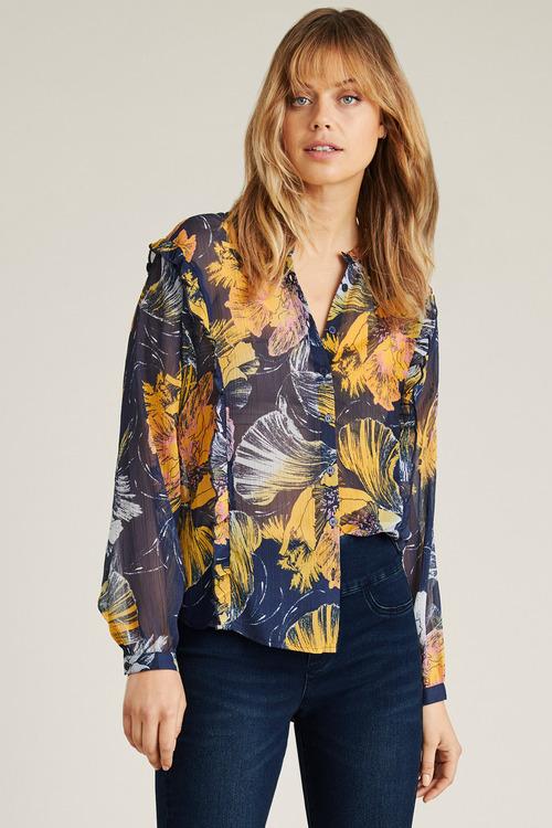 Emerge Ruffle Detail Shirt