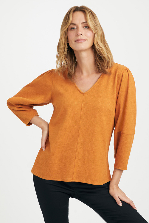 Emerge Knit Sleeve Detail Top