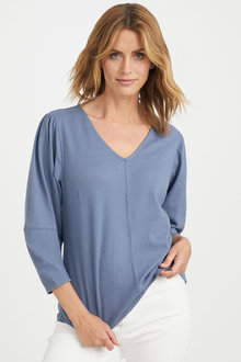 Emerge Knit Sleeve Detail Top - 247129