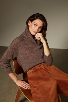 Grace Hill Boucle Roll Neck Sweater - 247155