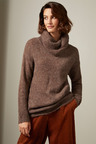 Grace Hill Boucle Roll Neck Sweater
