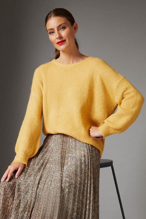 Grace Hill Blouson Sleeve Sweater