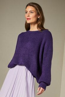 Grace Hill Blouson Sleeve Sweater - 247156