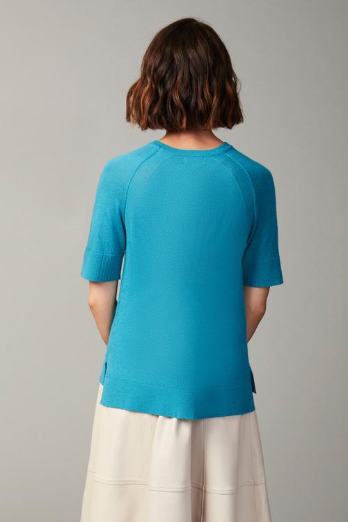 Grace Hill Merino Silk Short Sleeve Sweater
