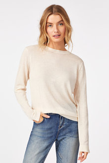 Grace Hill Merino Silk Crew Neck Sweater