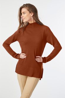 Grace Hill Merino Silk Funnel Neck Sweater