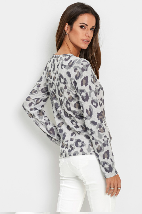 Euro Edit Animal Print Cardi