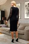 Euro Edit Lace Sleeve Dress