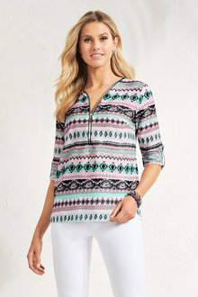 Euro Edit Front Zip Top - 247196