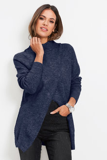 Euro Edit Wrap Front Pullover - 247199