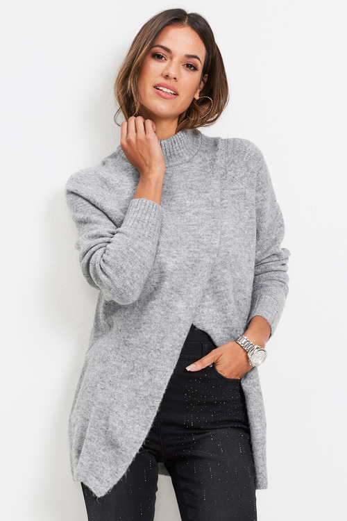 Euro Edit Wrap Front Pullover