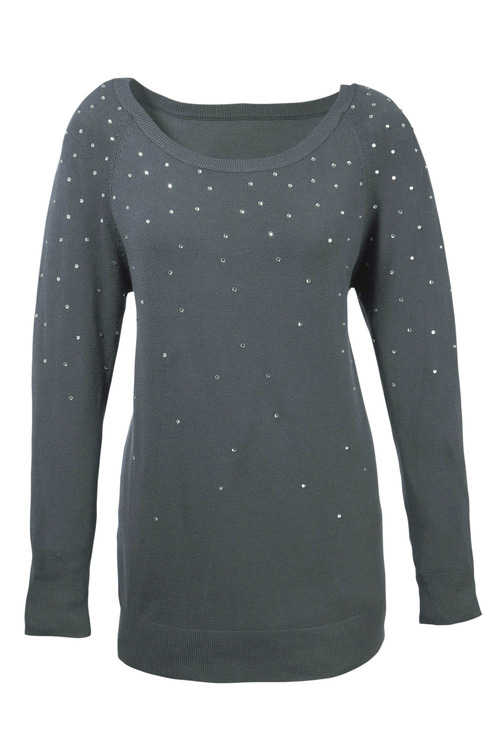 Euro Edit Pullover with Crystal Detail