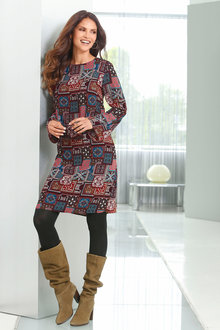 Euro Edit Printed Dress - 247203