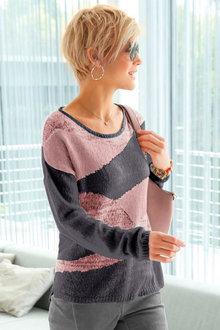 Euro Edit Pattern Knit Pullover - 247207