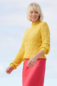 Emerge Fluffy Pointelle Sweater - 247244
