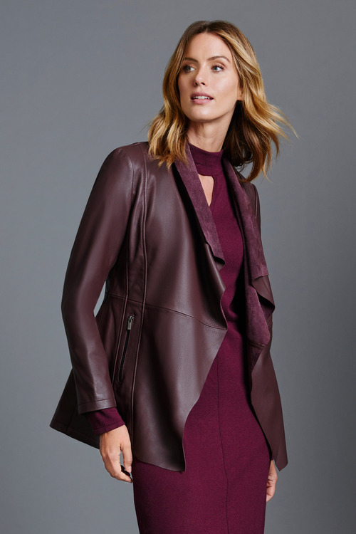 Capture Leather Longline Jacket