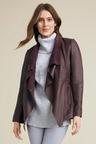 Capture Leather Longline Jacket