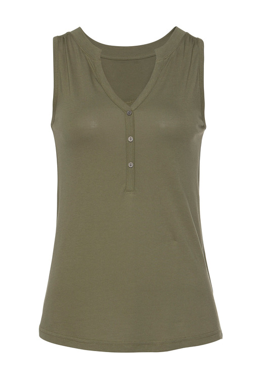 Urban Sleeveless Top with Buttons