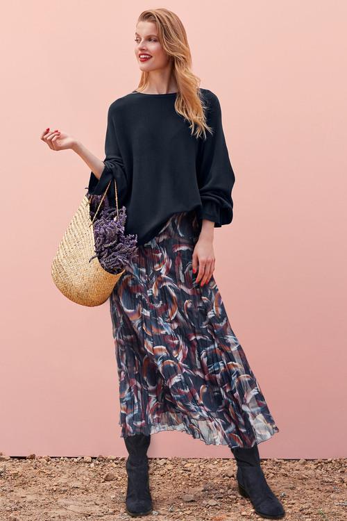 Heine Abstract Print Crinkle Skirt