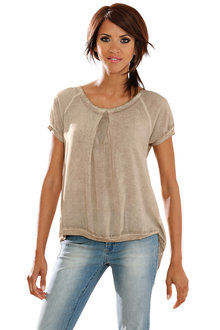 Heine Back Split Detail Top