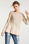 Heine Silk Peplum Sweater