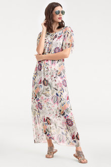 Heine Chiffon Printed Maxi Dress - 247447