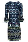 Kaleidoscope Printed Ruffle Sleeve Dress