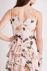 Kaleidoscope Printed Ruffle Dress