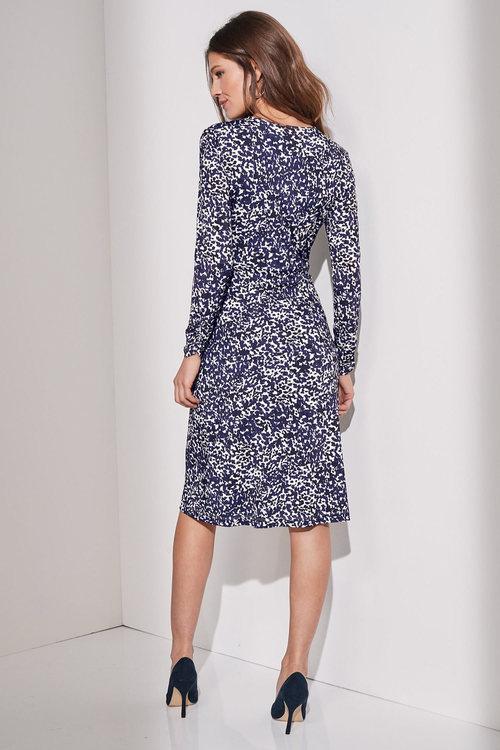European Collection Animal Print Wrap Dress