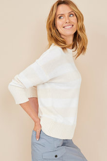 Capture Textured Stripe Sweater - 247526