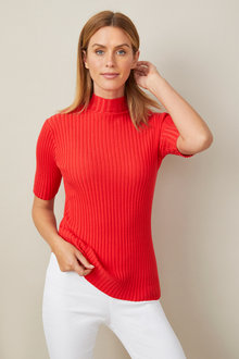 Capture High Neck Rib Top - 247533