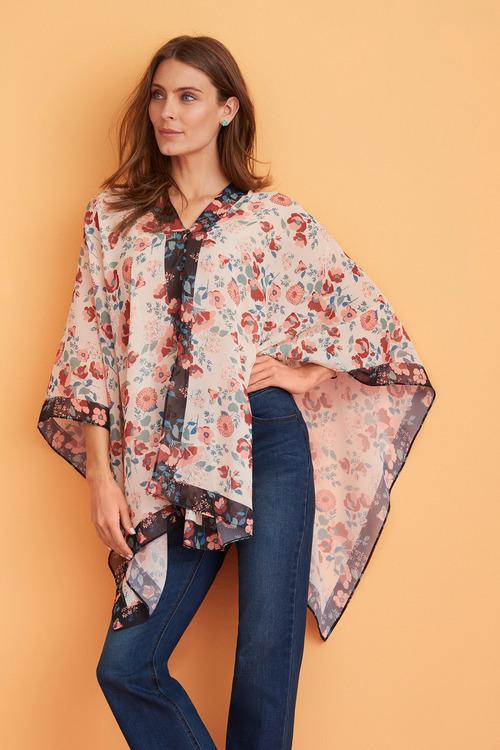 Capture Scarf Print Kimono