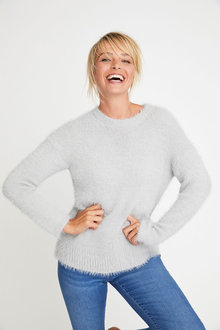 Capture Feather Knit Sweater - 247543