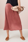 Capture Satin Midi Skirt