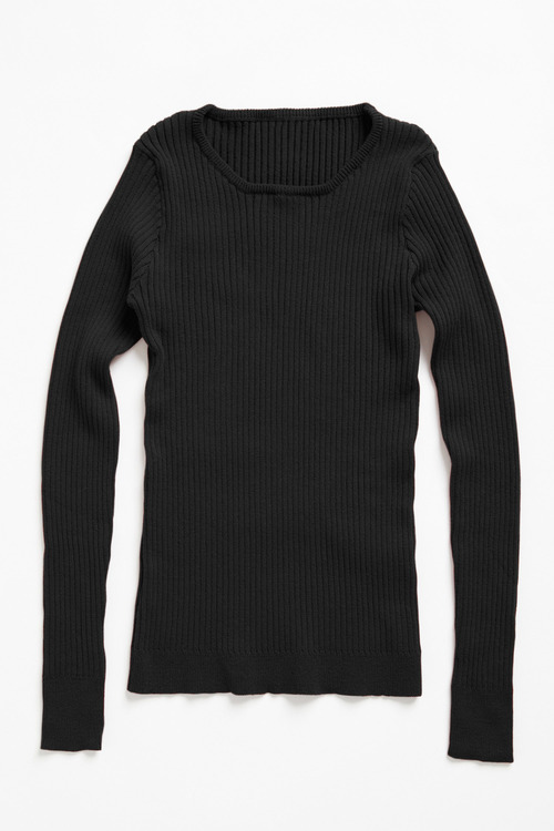 Capture Crew Neck Ribbed Sweater