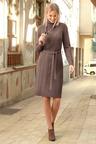 Euro Edit Aran Pattern Knit Dress