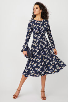 Capture Long Sleeve Midi Dress - 247604