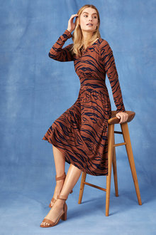 Capture Long Sleeve Midi Dress - 247604